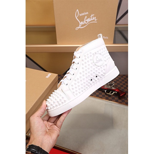 Cheap Christian Louboutin CL High Tops Shoes For Men #464162 Replica Wholesale [$77.60 USD] [W#464162] on Replica Christian Louboutin High Tops Shoes