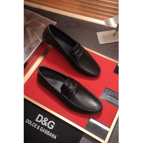 Cheap Dolce&Gabbana D&G Leather Shoes For Men #464227 Replica Wholesale [$79.54 USD] [W#464227] on Replica Dolce & Gabbana D&G Leather Shoes