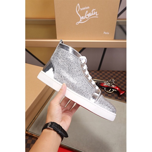 Cheap Christian Louboutin CL High Tops Shoes For Men #464233 Replica Wholesale [$125.13 USD] [W#464233] on Replica Christian Louboutin High Tops Shoes