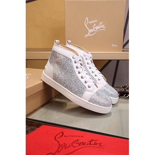 Cheap Christian Louboutin CL High Tops Shoes For Women #464243 Replica Wholesale [$77.60 USD] [W#464243] on Replica Christian Louboutin High Tops Shoes