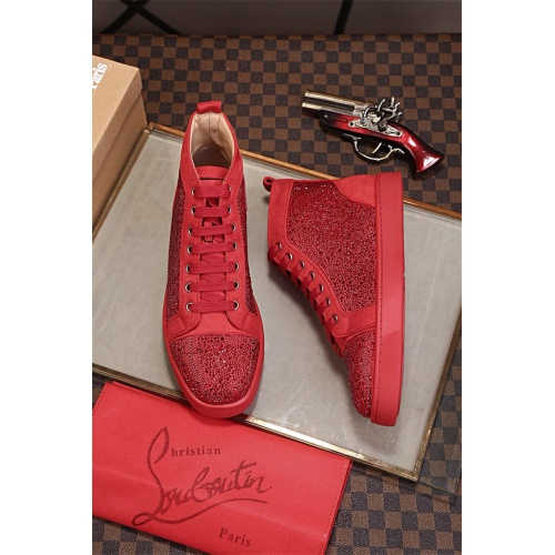 Cheap Christian Louboutin CL High Tops Shoes For Women #464245 Replica Wholesale [$77.60 USD] [W#464245] on Replica Christian Louboutin High Tops Shoes