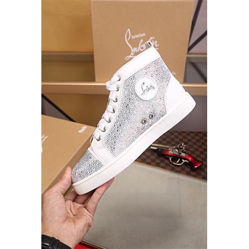 Cheap Christian Louboutin CL High Tops Shoes For Women #464256 Replica Wholesale [$125.13 USD] [W#464256] on Replica Christian Louboutin High Tops Shoes