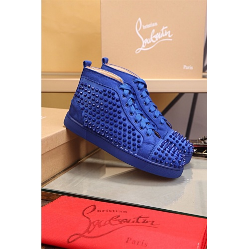 Cheap Christian Louboutin CL High Tops Shoes For Women #464261 Replica Wholesale [$125.13 USD] [W#464261] on Replica Christian Louboutin High Tops Shoes