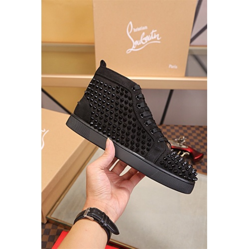 Cheap Christian Louboutin CL High Tops Shoes For Women #464262 Replica Wholesale [$125.13 USD] [W#464262] on Replica Christian Louboutin High Tops Shoes
