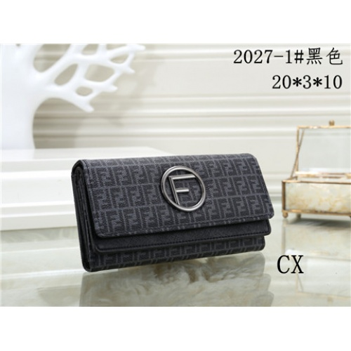 Cheap Fendi Fashion Wallets #464354 Replica Wholesale [$16.98 USD] [W#464354] on Replica Fendi Wallets
