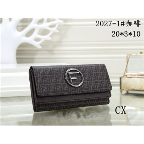 Cheap Fendi Fashion Wallets #464357 Replica Wholesale [$16.98 USD] [W#464357] on Replica Fendi Wallets