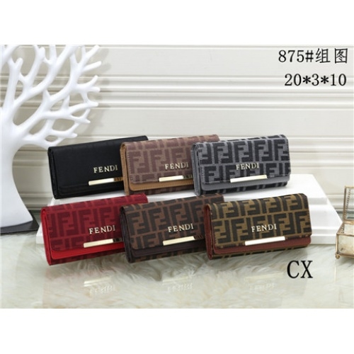 Cheap Fendi Fashion Wallets #464363 Replica Wholesale [$16.98 USD] [W#464363] on Replica Fendi Wallets