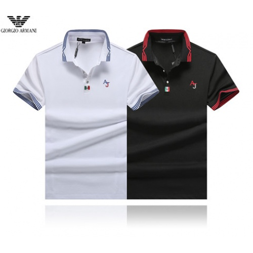 Cheap Armani T-Shirts Short Sleeved Polo For Men #464452 Replica Wholesale [$32.98 USD] [W#464452] on Replica Armani T-Shirts