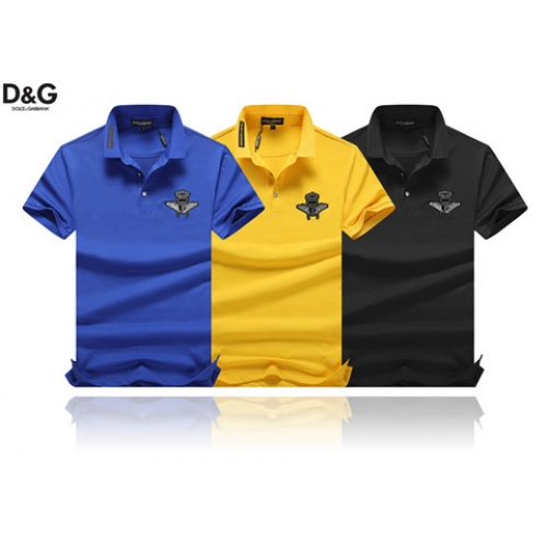 Cheap Dolce & Gabbana D&G T-Shirts Short Sleeved Polo For Men #464468 Replica Wholesale [$32.98 USD] [W#464468] on Replica Dolce & Gabbana D&G T-Shirts