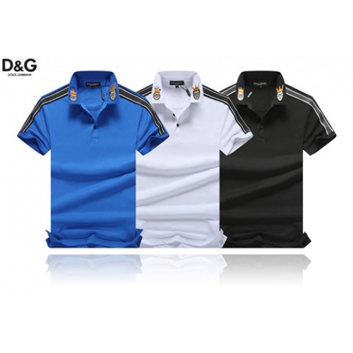 Cheap Dolce & Gabbana D&G T-Shirts Short Sleeved Polo For Men #464471 Replica Wholesale [$32.98 USD] [W#464471] on Replica Dolce & Gabbana D&G T-Shirts
