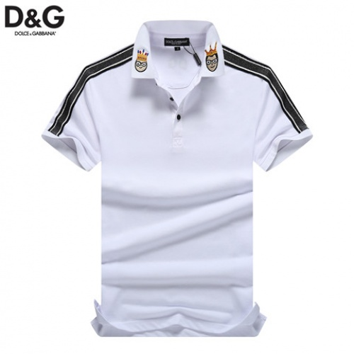 Cheap Dolce & Gabbana D&G T-Shirts Short Sleeved Polo For Men #464472 Replica Wholesale [$32.98 USD] [W#464472] on Replica Dolce & Gabbana D&G T-Shirts