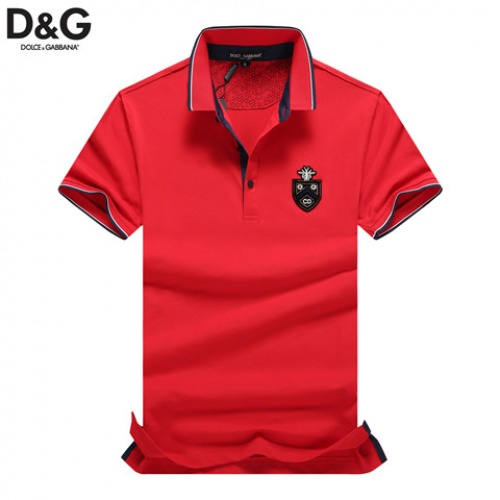 Cheap Dolce & Gabbana D&G T-Shirts Short Sleeved Polo For Men #464475 Replica Wholesale [$32.98 USD] [W#464475] on Replica Dolce & Gabbana D&G T-Shirts