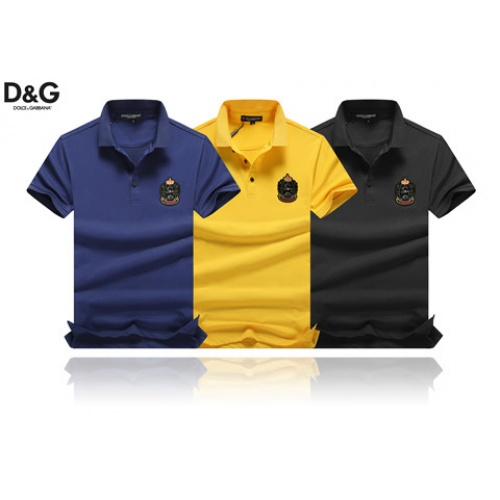 Cheap Dolce & Gabbana D&G T-Shirts Short Sleeved Polo For Men #464486 Replica Wholesale [$32.98 USD] [W#464486] on Replica Dolce & Gabbana D&G T-Shirts