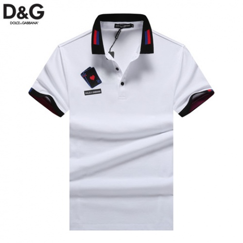 Dolce & Gabbana D&G T-Shirts Short Sleeved Polo For Men #464491