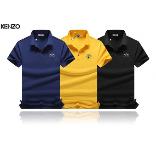 Cheap Kenzo T-Shirts Short Sleeved Polo For Men #464512 Replica Wholesale [$32.98 USD] [W#464512] on Replica Kenzo T-Shirts