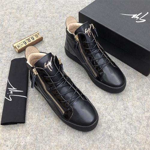Cheap Giuseppe Zanotti GZ High Tops Shoes For Men #464552 Replica Wholesale [$85.36 USD] [W#464552] on Replica Giuseppe Zanotti High Tops Shoes