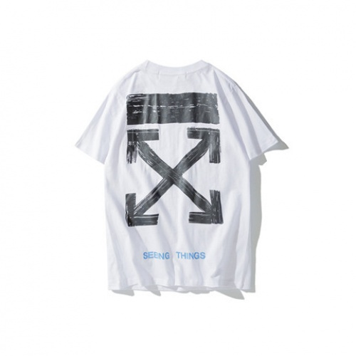 Cheap Off-White T-Shirts Short Sleeved O-Neck For Men #464572 Replica Wholesale [$24.25 USD] [W#464572] on Replica Off-White T-Shirts
