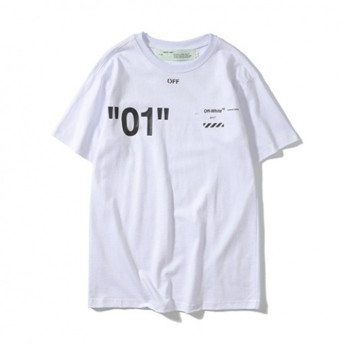 Cheap Off-White T-Shirts Short Sleeved O-Neck For Men #464579 Replica Wholesale [$24.25 USD] [W#464579] on Replica Off-White T-Shirts