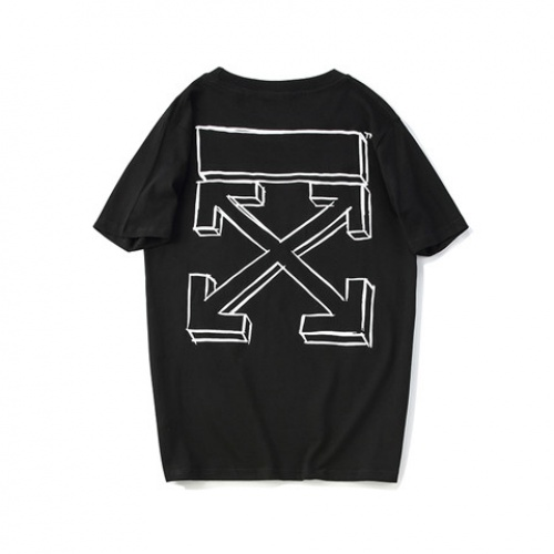 Cheap Off-White T-Shirts Short Sleeved O-Neck For Men #464586 Replica Wholesale [$24.25 USD] [W#464586] on Replica Off-White T-Shirts