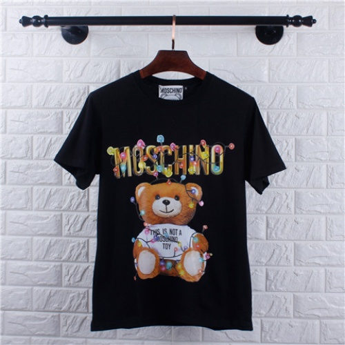 Cheap Moschino T-Shirts Short Sleeved O-Neck For Men #464616 Replica Wholesale [$28.13 USD] [W#464616] on Replica Moschino T-Shirts