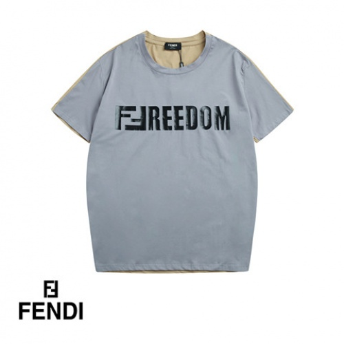 Cheap Fendi T-Shirts Short Sleeved O-Neck For Men #464702 Replica Wholesale [$32.98 USD] [W#464702] on Replica Fendi T-Shirts