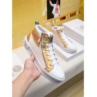 Cheap Versace High Tops Shoes For Men #462261 Replica Wholesale [$79.54 USD] [W#462261] on Replica Versace High Tops Shoes