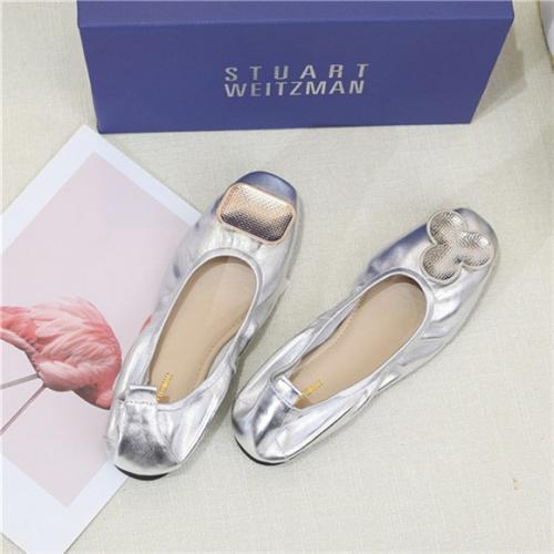 Cheap Stuart Weitzman Flat Shoes For Women #466962 Replica Wholesale [$60.14 USD] [W#466962] on Replica Stuart Weitzman Fashion Shoes