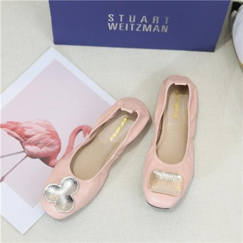 Cheap Stuart Weitzman Flat Shoes For Women #466965 Replica Wholesale [$60.14 USD] [W#466965] on Replica Stuart Weitzman Fashion Shoes