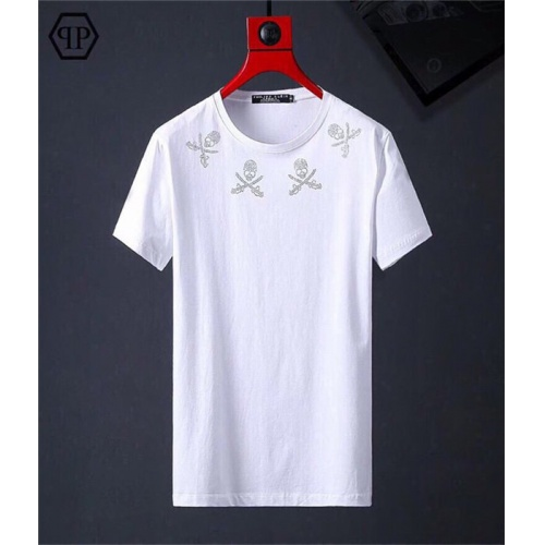 Cheap Philipp Plein PP T-Shirts Short Sleeved O-Neck For Men #469516 Replica Wholesale [$31.04 USD] [W#469516] on Replica Philipp Plein PP T-Shirts