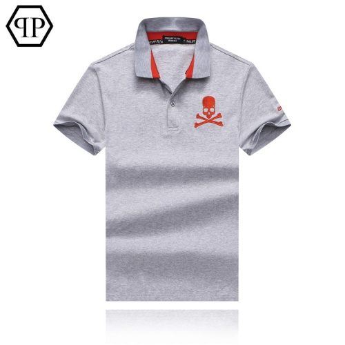 Cheap Philipp Plein PP T-Shirts Short Sleeved Polo For Men #469684 Replica Wholesale [$32.98 USD] [W#469684] on Replica Philipp Plein PP T-Shirts