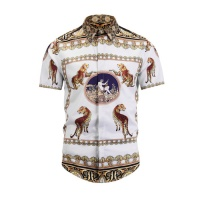 Versace Shirts Short Sleeved Polo For Men #470379