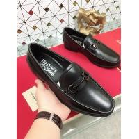 Salvatore Ferragamo SF Leather Shoes For Men #471843