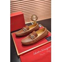 Salvatore Ferragamo SF Leather Shoes For Men #472726