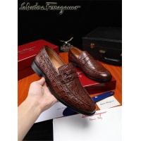 Salvatore Ferragamo SF Leather Shoes For Men #476121