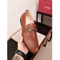 Salvatore Ferragamo SF Leather Shoes For Men #478148