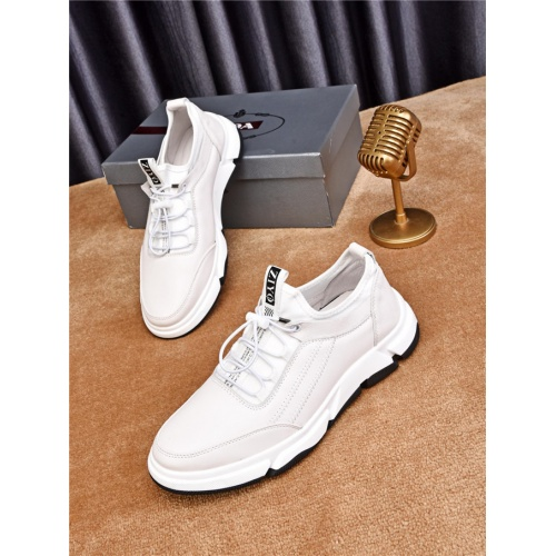 Cheap Prada Casual Shoes For Men #483342 Replica Wholesale [$77.60 USD] [W#483342] on Replica Prada New Shoes