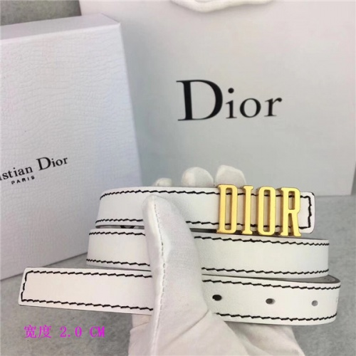 Cheap Christian Dior AAA Belts For Women #483528 Replica Wholesale [$60.14 USD] [W#483528] on Replica Dior AAA Quality Belts
