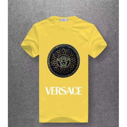 Cheap Versace T-Shirts Short Sleeved O-Neck For Men #486051 Replica Wholesale [$25.71 USD] [W#486051] on Replica Versace T-Shirts