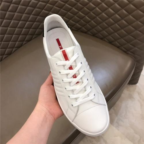 Cheap Prada Casual Shoes For Men #487332 Replica Wholesale [$77.60 USD] [W#487332] on Replica Prada New Shoes