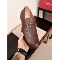 Salvatore Ferragamo SF Leather Shoes For Men #484275
