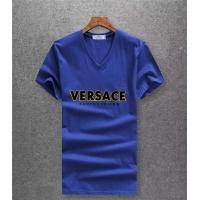Versace T-Shirts Short Sleeved V-Neck For Men #485943
