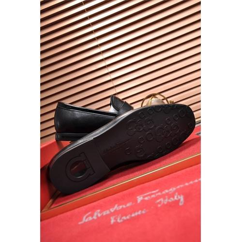Cheap Salvatore Ferragamo SF Leather Shoes For Men #488501 Replica Wholesale [$79.54 USD] [W#488501] on Replica Ferragamo Leather Shoes