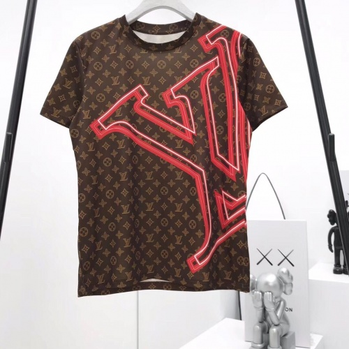 Louis Vuitton LV T-Shirts Short Sleeved O-Neck For Men #492666