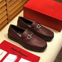 Salvatore Ferragamo SF Leather Shoes For Men #489654