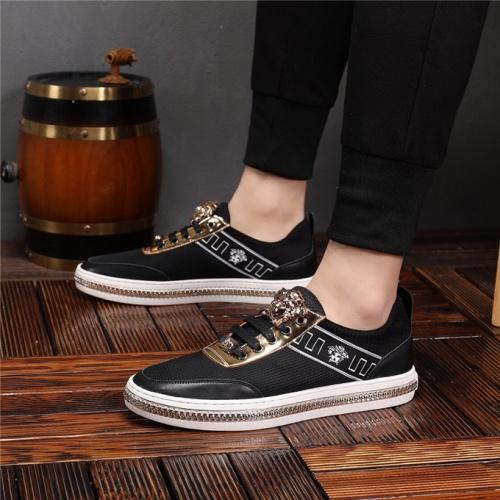 Cheap Versace Casual Shoes For Men #497742 Replica Wholesale [$72.75 USD] [W#497742] on Replica Versace Fashion Shoes