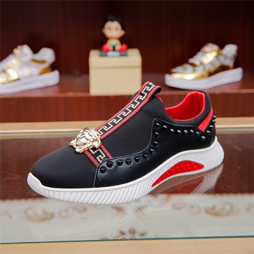 Cheap Versace Casual Shoes For Men #497753 Replica Wholesale [$75.66 USD] [W#497753] on Replica Versace Fashion Shoes