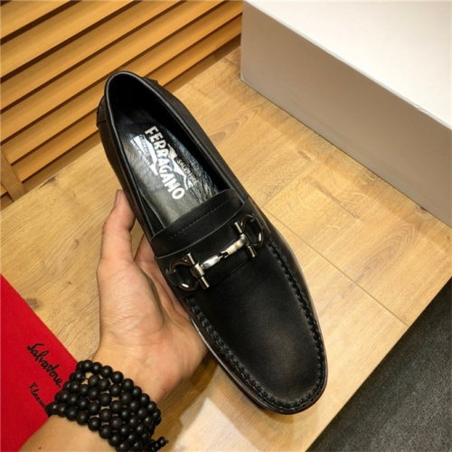 Cheap Salvatore Ferragamo SF Leather Shoes For Men #498105 Replica Wholesale [$79.54 USD] [W#498105] on Replica Ferragamo Leather Shoes