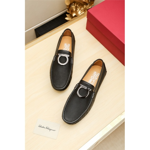 Cheap Salvatore Ferragamo SF Leather Shoes For Men #498128 Replica Wholesale [$66.93 USD] [W#498128] on Replica Ferragamo Leather Shoes