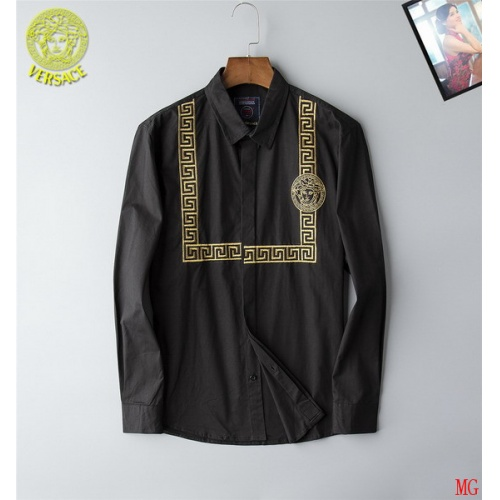 Cheap Versace Shirts Long Sleeved Polo For Men #507826 Replica Wholesale [$44.62 USD] [W#507826] on Replica Versace Shirts