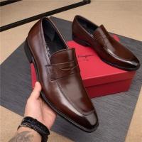 Salvatore Ferragamo SF Leather Shoes For Men #496875